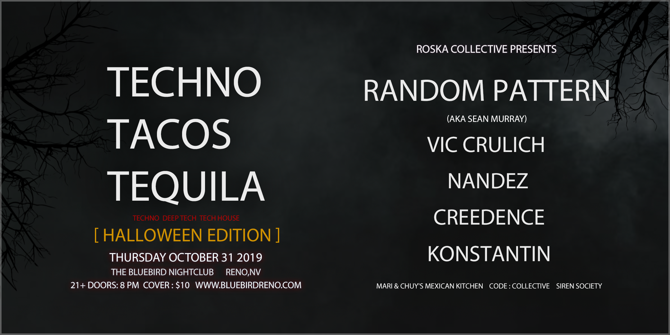 Techno Taco Tequila Halloween Flyer 2 remake 1