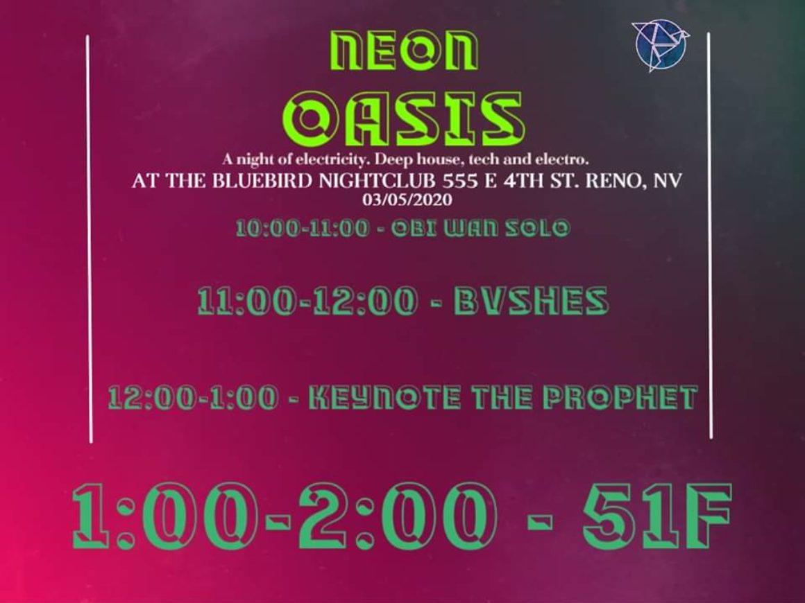 The Bluebird Reno - NEON OASIS March 5